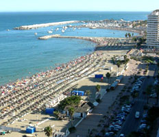Marina and beaches in Fuengirola