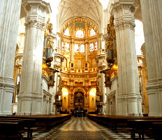 inside of the cathedral of Granada