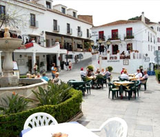 Image of a square of Mijas